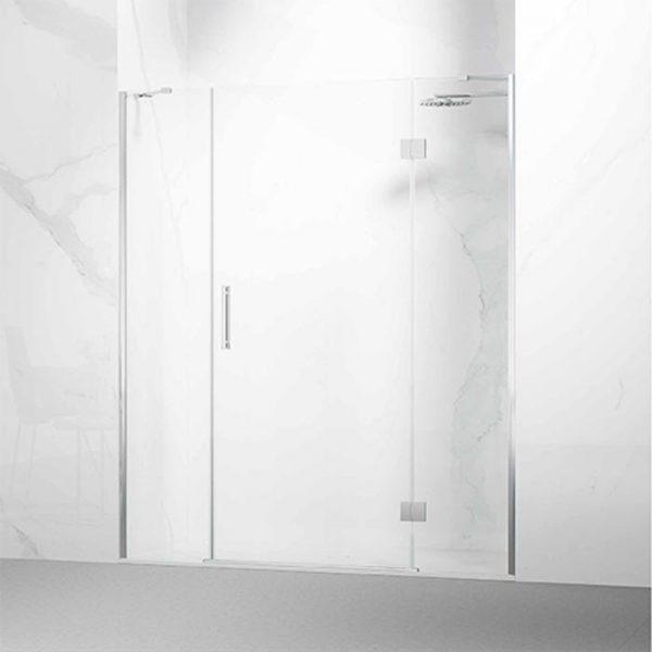 Fronatal ducha 1 hoja abatibles con bisagras con fijos laterales