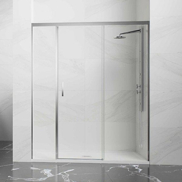 Frontal ducha 1 Hoja corredera con fijos laterales