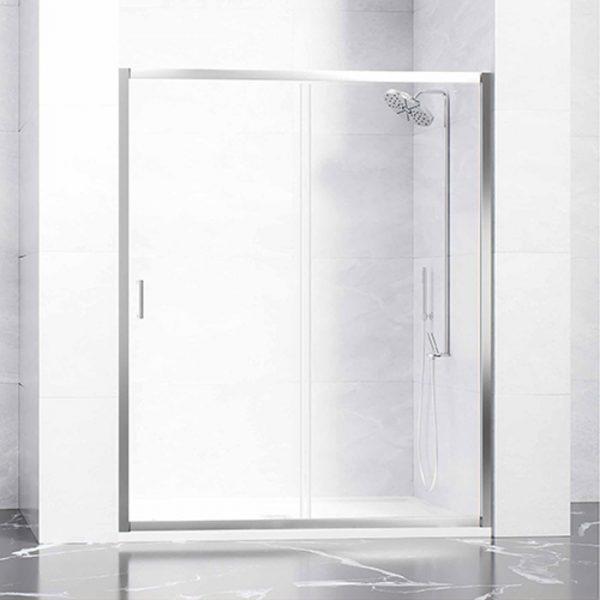 Frontal mampara ducha 1 hoja corredera + 1 hoja fija