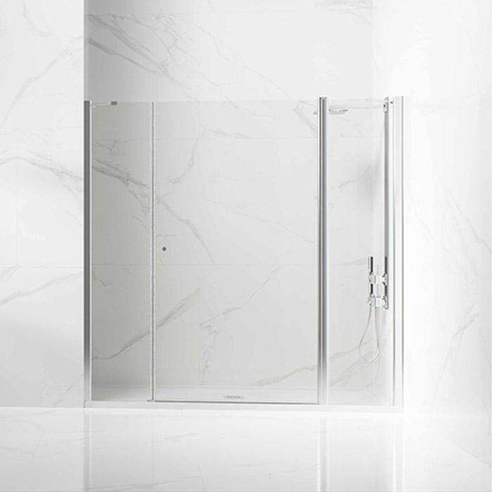 Frontal ducha 1 hoja abatible con fijos a los laterales