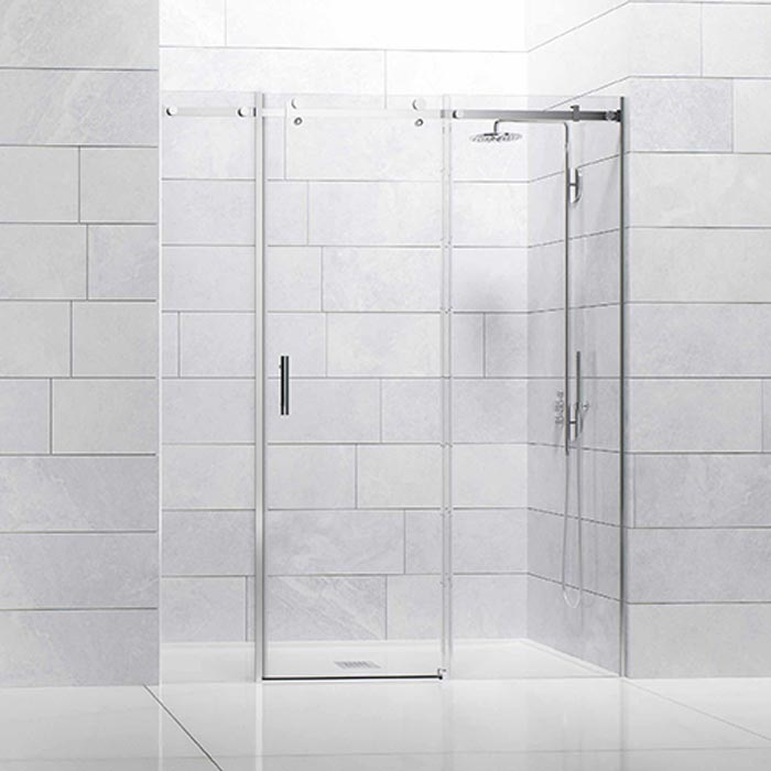 Frontal ducha 1 hoja con fijos laterales. Rodamientos suspendidos