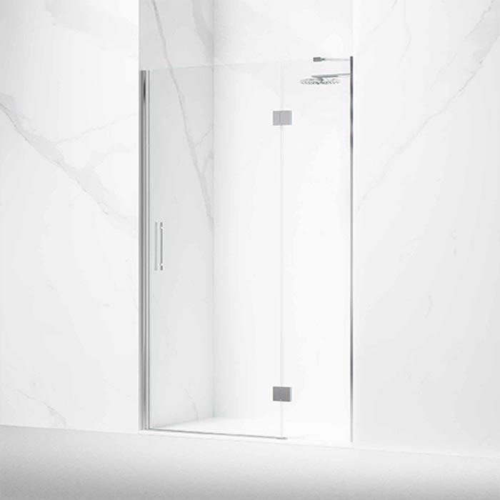 Frontal ducha o bañera formado por 1 hoja abatible con bisagras y lateral fijo