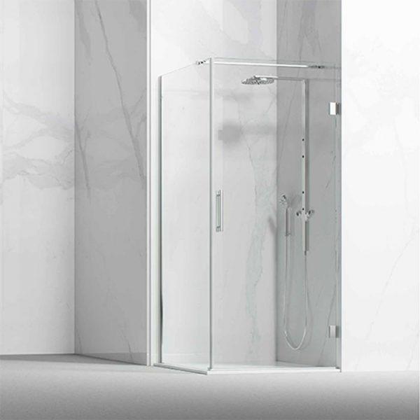 Frontal ducha / bañera formado por 1 hoja abatible con fijo lateral